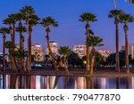 the lights of downtown phoenix... | Shutterstock . vector #790477870