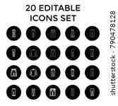 jeans icons. set of 20 editable ... | Shutterstock .eps vector #790478128