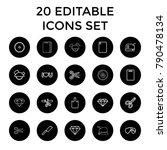 cutting icons. set of 20... | Shutterstock .eps vector #790478134