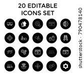 motion icons. set of 20... | Shutterstock .eps vector #790478140