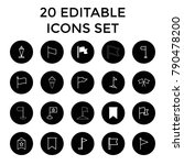 pennant icons. set of 20... | Shutterstock .eps vector #790478200
