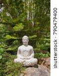 white buddha statue in the... | Shutterstock . vector #790479400