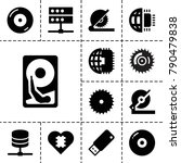 disk icons. set of 13 editable... | Shutterstock .eps vector #790479838