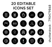competition icons. set of 20... | Shutterstock .eps vector #790479868