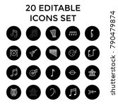 melody icons. set of 20... | Shutterstock .eps vector #790479874