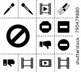 negative icons. set of 13... | Shutterstock .eps vector #790479880