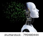 3d rendering of the head of a... | Shutterstock . vector #790480444