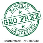 gmo free rubber stamp | Shutterstock .eps vector #790480930