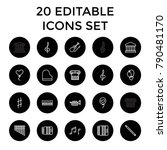 classical icons. set of 20... | Shutterstock .eps vector #790481170