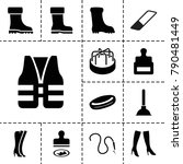 rubber icons. set of 13...   Shutterstock .eps vector #790481449