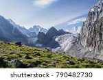 beautiful landscape with green...   Shutterstock . vector #790482730