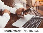 businessman using technology in ...   Shutterstock . vector #790482766