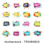 big set of colorful abstract... | Shutterstock .eps vector #790484824