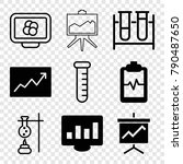 set of 9 analysis filled and... | Shutterstock .eps vector #790487650