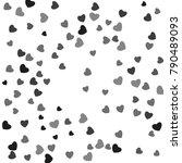hearts confetti  bright... | Shutterstock .eps vector #790489093
