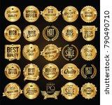 retro vintage golden badges... | Shutterstock .eps vector #790490710