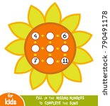 counting game for preschool... | Shutterstock .eps vector #790491178