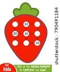 counting game for preschool... | Shutterstock .eps vector #790491184