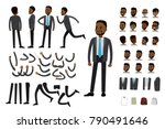 male african american ... | Shutterstock .eps vector #790491646