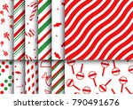 super pack of christmas candy... | Shutterstock .eps vector #790491676