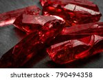 rubies and raw crystal gems... | Shutterstock . vector #790494358