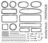 set of hand drawn elements for... | Shutterstock .eps vector #790494628