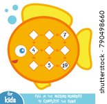 counting game for preschool... | Shutterstock .eps vector #790498660