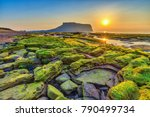 sunrise at jeju do seongsan... | Shutterstock . vector #790499734
