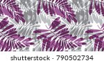gray and violet tropical... | Shutterstock .eps vector #790502734