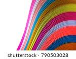 abstract rainbow background... | Shutterstock . vector #790503028