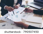 financial image of two ... | Shutterstock . vector #790507450