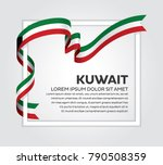 kuwait flag background | Shutterstock .eps vector #790508359