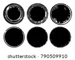 grunge post stamps collection ... | Shutterstock .eps vector #790509910