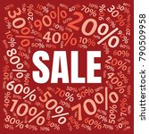sale square word cloud made of... | Shutterstock .eps vector #790509958