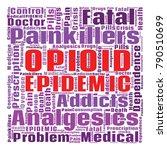 opioid crisis word cloud... | Shutterstock .eps vector #790510699