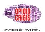 opioid crisis word cloud... | Shutterstock .eps vector #790510849