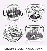 set of vintage camping and... | Shutterstock .eps vector #790517299