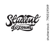 student discount lettering... | Shutterstock .eps vector #790519549