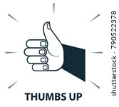 vector icon   thumbs up hand... | Shutterstock .eps vector #790522378
