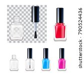 empty and full of colorful nail ... | Shutterstock .eps vector #790524436