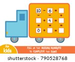 counting game for preschool... | Shutterstock .eps vector #790528768
