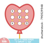counting game for preschool... | Shutterstock .eps vector #790529548