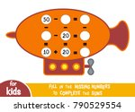 counting game for preschool... | Shutterstock .eps vector #790529554