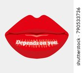 message on the lip  depends on... | Shutterstock .eps vector #790533736