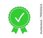green approved or certified... | Shutterstock .eps vector #790535614