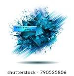 abstract modern poligonal...   Shutterstock .eps vector #790535806