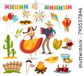 colored and isolated festa... | Shutterstock .eps vector #790537846