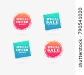 special offer   special sale 50 ... | Shutterstock .eps vector #790541020