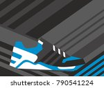 abstract sneaker shoe on... | Shutterstock .eps vector #790541224