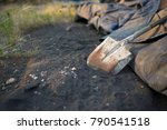 shovels are placed after not... | Shutterstock . vector #790541518